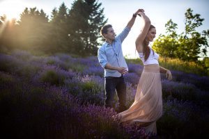 Lavender Field Engagement Photoshoot in Dundas - Lauren and Mike
