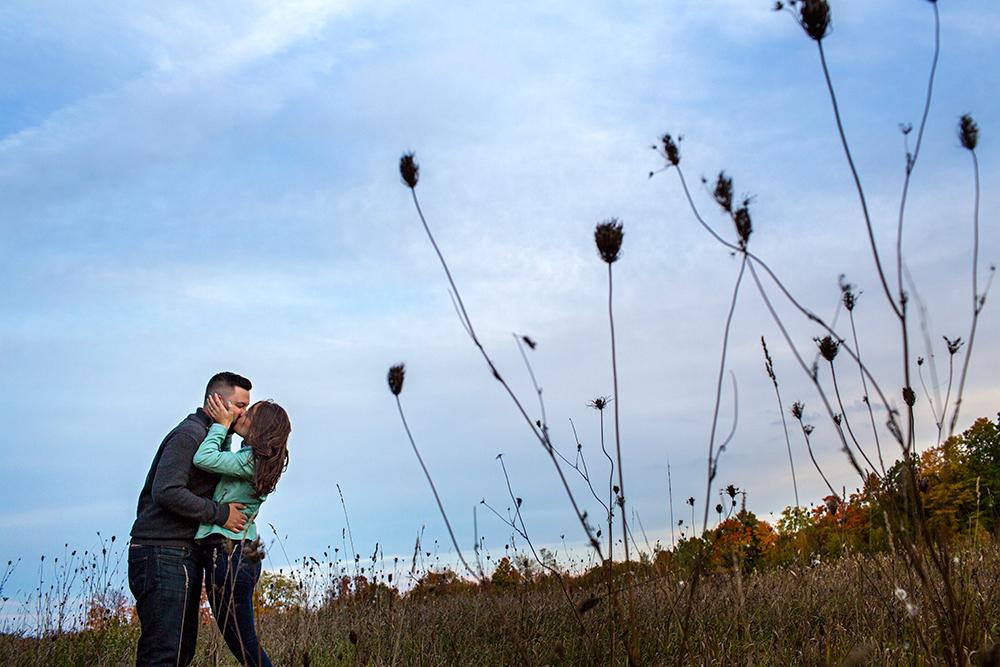 Mono Cliffs Fall Engagement Shoot with Alex and Matt