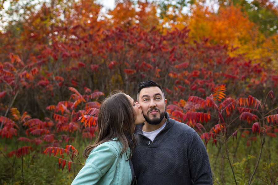 Mono Cliffs Fall Engagement Photo Session | Alex and Matt
