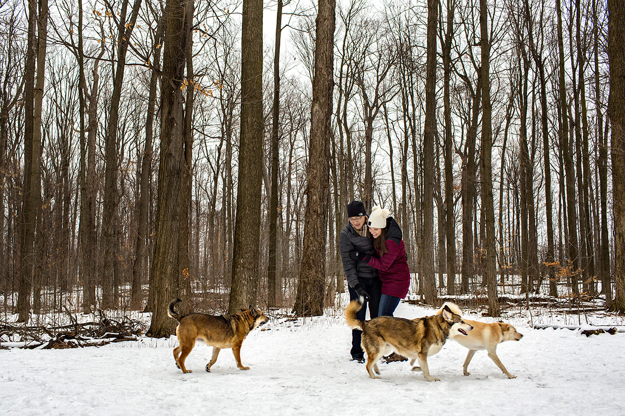 Winter Engagement Photo Session in the Snow | Jillian and Ian