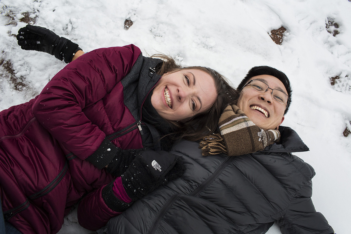 Winter Engagement Photoshoot on The Snow - Jillian and Ian